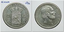 Netherlands - 2½ Gulden 1874 (klaver) ~ Zeer Fraai-