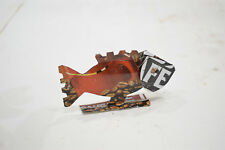 African Folk Art Toy Fish Recycled Tin Can Fish Tanzania Vintage Toy Fish