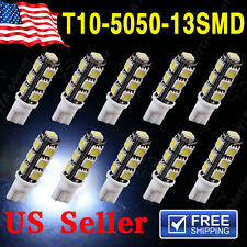 10 Xenon White Wedge T10 5050 13-SMD Car LED Light bulbs W5W 2825 158 192 168