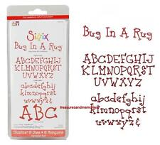 Sizzix Sizzlits Alphabet Set BUG IN A RUG Upper & Lowercase  655321