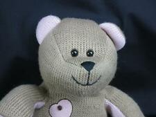 STARBUCKS BEARISTA 89 ed BEAR BROWN PINK KEY HEART SOFT HUGGABLE PLUSH STUFFED