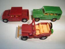 JEEPS OFF-ROAD TROPHY MODEL CARS SET 1:87 H0 KINDER SURPRISE PLASTIC MINIATURES