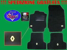 TAPPETINI tappeti Renault MEGANE 2(02-10) su misura con 4 LOGHI battitacco gomma
