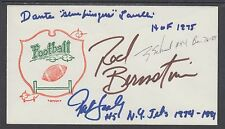Pat Leahy, Dante Lavelli, Rod Bernstine & Terry Schmidt signed Football cover