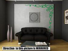 Celtic Vine Corner Stylish Art Wall Sticker Decoration Decal 50cm x 50cm UK FAST