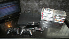 PS3 150GB SLIM CONSOLE WITH 20 GAMES ALL DISCS VGC