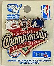 1995 ATLANTA BRAVES CINCINNATI REDS Championship Series - MLB Baseball Lapel Pin