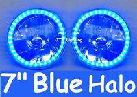 "BLUE 7"" JTX Round Headlights Chevrolet Chev Chevy Camaro SS El Camino Impala G20"