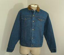 Vintage Saddle King Sherpa Pile Lined Denim Jean Western Jacket Usa Made 48