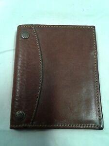 Vintage GHURKA MARLEY HODGSON authentic BIFOLD CARD CASE WALLET leather brown