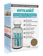 Emuaid Overnight Acne Treatment 2% Salicylic Acid-Rosacea, Cystic Acne (1 Fl oz)