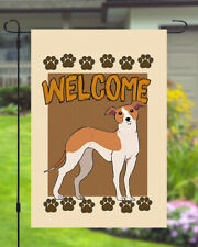 Italian Greyhound Welcome Dog Garden Banner Flag 11x14 to 12x18 Yard Decor Pet