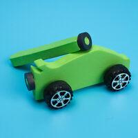 KE_ KM_ DIY Handmade Wooden Magnetic Car Kit Model Science Education Kids Toy
