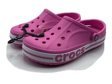 Crocs Pink Women's Size 10 Bayaband Comfort Croc Clogs New with Tags!