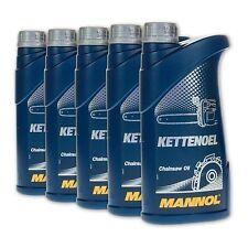 5 (5x1) Liter MANNOL mineralisches Kettenöl / Kettenhaftöl für Motorsäge