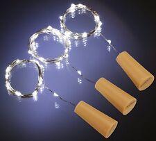 1.5M 20LED Cork Shaped Starry Lights Wine Bottle Lamp For Wedding Party White