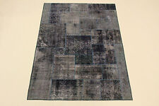 Moderno Patchwork Lavabo Pietra Used Look Persiano Tappeto Orientale 2,48 X1, 76