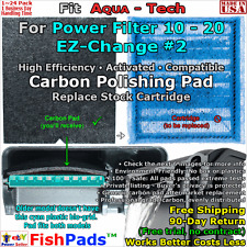 For Aqua Tech 10-20 Power Filter EZ Change No. 2 Cartridge Compatible Carbon Pad