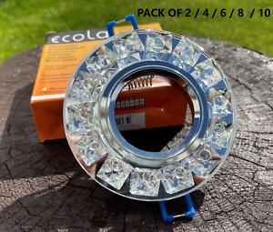GU10 Crystal  Modern Glass Recessed Spotlight Downlights Ceiling Light Fitting