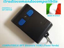 RADIOCOMANDO COMPATIBILE BFT VTM2 (T. VERDE) COD. A DIP SWITC COME L'ORIGINALE
