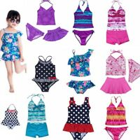 Girls Bathing Bikini Childrens Swimming Costume Swimsuit Tankini Baby Toddler