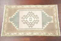 One-of-a-Kind Tribal Oushak Turkish Oriental Area Rug MUTED Hand-made WOOL 2'x3'