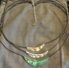 """Silpada N3114 Sterling & Patina Brass Cayman Necklace 17-19"""" Was $79"""