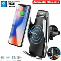 10W Automatic Infrared Sensor Phone Clamp Wireless Car Charger Mount Vent Holder