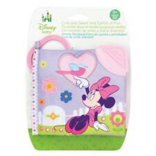 New Disney Minnie Mouse Clip On Soft Baby Activity Book With Teether