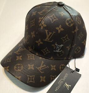 Louis Vuitton Baseball Hat - High Quality Classic Style Brown Leather LV Cap