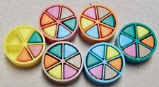 1984 Trivial Pursuit 6 Player Tokens, 34 Scoring Wedges