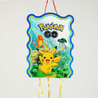 POKEMON PINATA PARTY GAME PIKACHU LOLLY/LOOT FAVOUR BIRTHDAY PARTY DECORATIONS