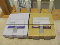 2x BROKEN AS IS Super Nintendo SNES Model SNS-001 CONSOLE ONLY AUTHENTIC GENUINE