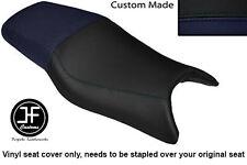Azul Marino Y Personalizado De Vinilo Negro Para Honda CBR 600 F 97-98 Doble Cubierta de asiento solamente