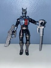 "2004 Power Rangers SPD Sound Patrol 5.5"" Shadow Ranger Figure complete weapons"