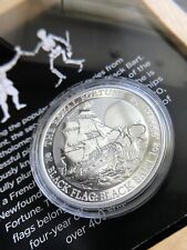 2020 TUVALU BLACK FLAG THE ROYAL FORTUNE 1 OZ SILVER COIN
