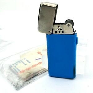Soviet Lighter Souvenir NOS Blue Gomel Belarus USSR 1990 Smoking Works Original
