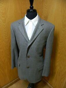 Mens Blazer Sport coat Jacket Brooks Brothers  42r Saxxon  Multi gray H.T. S#106