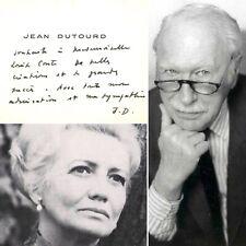 🌓 CAS Jean DUTOURD romancier académicien écrit à la comédienne Louise CONTE #2