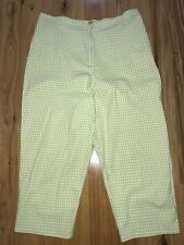 Ladies Checked 3/4 Stretch Pants, Sag Harbor Sport Brand, Size 14-16