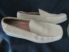 Men's Tommy Bahama TB-283  12 M Sand Leather Casual Slip On Loafers