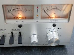 Vintage Aiwa AD-6500 Solid State Cassette Tape Deck Recorder Analogue Indicator