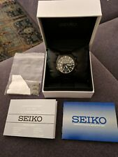 Mens Seiko Chronograph 7T94 0BL0 Stainless Steel Mens Working Watch WR100 Meter