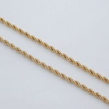 """20"""" 5MM GOLD EP ROPE NECKLACE CHAIN GORGEOUS!"""