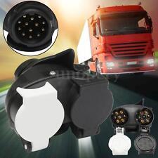 13-pin to 2x 7-pin Caravan Towing Plug Socket Adapter Electrics Tool Waterproof