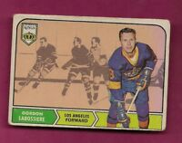 1968-69 OPC # 38 KINGS GORD LABOSSIERE  ROOKIE CREASED CARD  (INV# A5556)