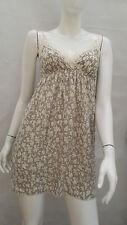 BNWT Ladies DANITY Grey Floral Short Dress / Long Top Size 8-10 (S)