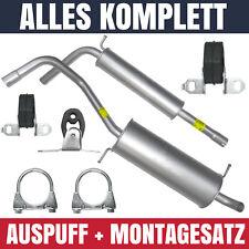 Auspuffanlage Schalldämpferset Auspuff Volkswagen VW Polo IV 9N 01-09 1.4