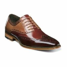 Stacy Adams Mens Tinsley Wingtip Oxford Dress Shoes Brown Mult Leather 25092-249