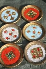 Set of Six Vintage beautiful coasters